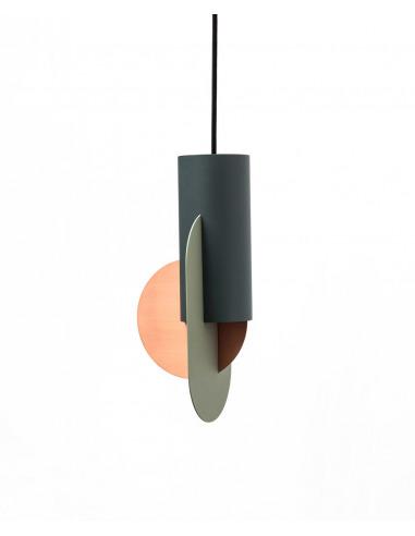 Suspension Suprematic Three CS1 en cuivre et acier peint au design contemporain par Kateryna Sokolova x Noom