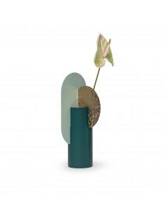 Vase Yermilov Limited Edition CSL3 en laiton martelé et acier peint au design contemporain par Kateryna Sokolova x Noom
