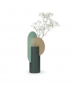 Vase Yermilov CS2 en laiton et acier peint au design contemporain par Kateryna Sokolova x Noom