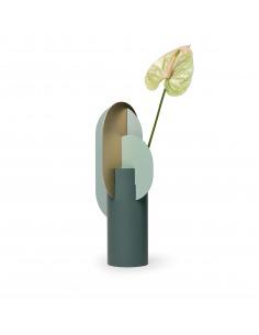 Vase Ekster Vase CS9 en laiton brossé et acier peint au design contemporain par Kateryna Sokolova x Noom
