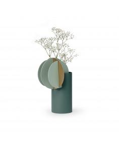 Vase Delaunay CS9 en laiton et acier peint au design contemporain par Kateryna Sokolova x Noom