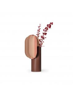 Vase Gabo CS7 en cuivre et acier peint au design contemporain par Kateryna Sokolova x Noom