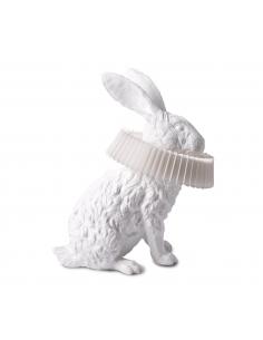 Lampe à poser Rabbit Assis en résine blanche en forme de lapin par Haoshi