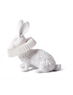 Lampe à poser Rabbit accroupi en résine blanche en forme de lapin par Haoshi