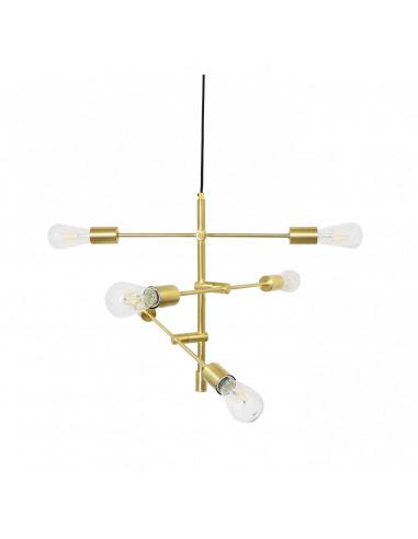 Suspension Dona en métal avec tiges multi-directionnelles au design chic