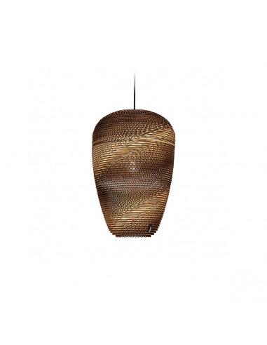 Suspension en carton Baggy Ø 29 cm au design naturel par Think Paper