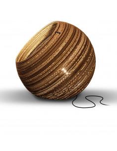 Lampe à poser en carton Globe Ø64 cm au design naturel par Think Paper