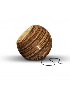 Lampe à poser en carton Globe Ø44 cm au design naturel par Think Paper
