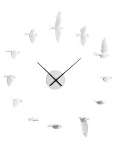 Horloge design ronde Swallow X CLOCK avec 12 hirondelles par Haoshi