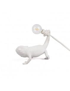 Lampe à poser Chameleon still en forme de cameleon en résine par Marcantonio x Seletti