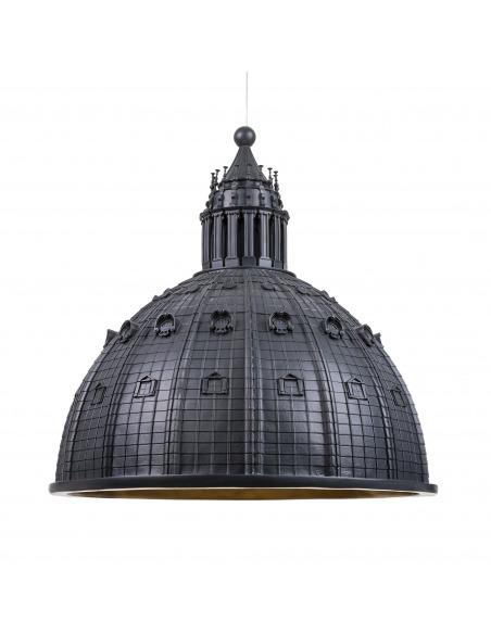 Suspension Cupolone grise en forme du dôme basilique Saint Pierre par Seletti x AMeBE