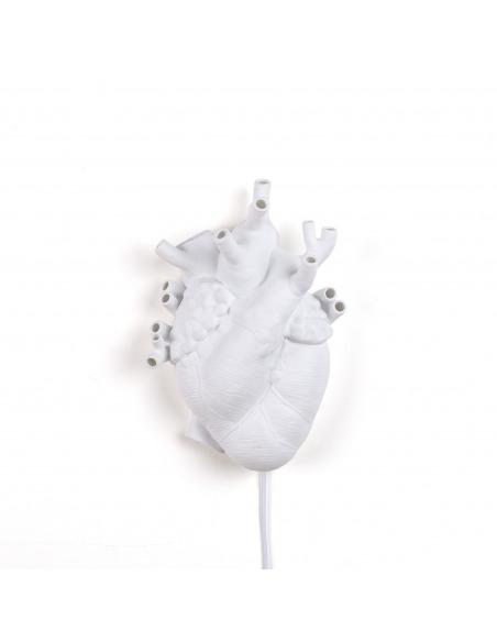 Applique design Heart en porcelaine en forme de coeur par Marcantonio X Seletti
