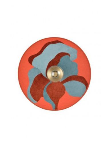 Applique murale Nostalgia Camélia en tissu pivoine par Sonia Laudet x Market Set