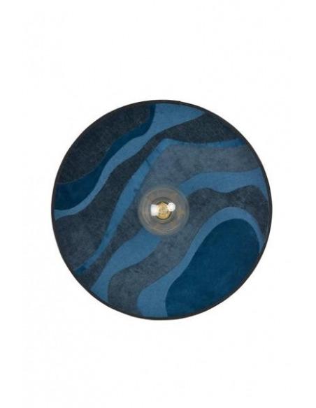 Applique murale Nostalgia Malachite Nuit en tissu pivoine par Sonia Laudet x Market Set