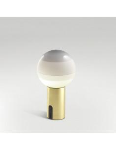 Lampe à poser portable Dipping Light Ø 12,5 cm LED en laiton par Jordi Canudas - Marset