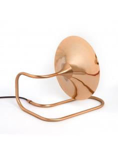 Lampe à poser / Applique Turbaya en cuivre en forme de gramophone au design chic et élégant