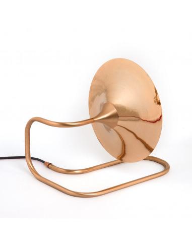 Lampe A Poser Applique Turbaya En Cuivre En Forme De Gramophone Au