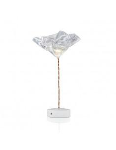 Lampe à poser sur batterie Lafleur en Lentiflex par Annonces  Marc Sadler x Slamp