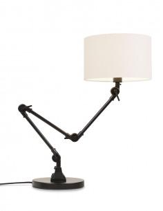 Lampe à poser Amsterdam en métal avec abat jour en coton au design industriel par It's About Romi