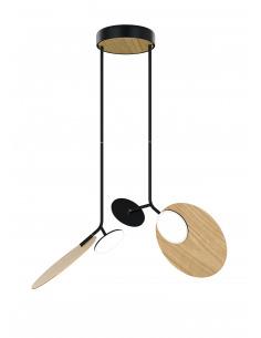 Suspension double Ballon noir LED au design scandinave par Tunto