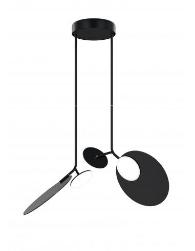 Plafonnier double Ballon noir LED au...