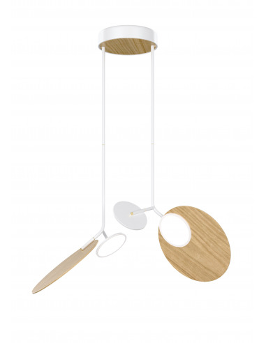 Suspension double Ballon blanc LED au design scandinave par Tunto