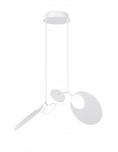Plafonnier double Ballon blanc LED au...