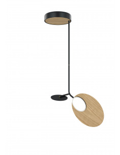 Suspension Ballon noir LED au design scandinave par Tunto