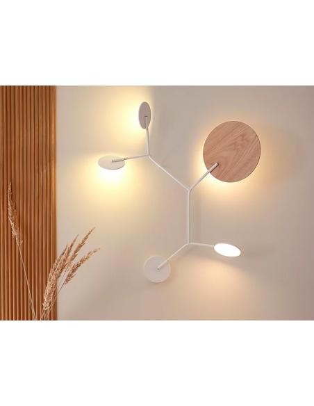 Applique Wall 5 LED Modèle C blanc au design scandinave par Tunto