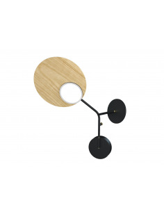 Applique Wall 3 LED Modèle gauche noir au design scandinave par Tunto