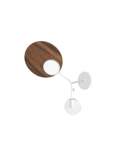 Applique Wall 3 LED Modèle gauche blanc au design scandinave par Tunto