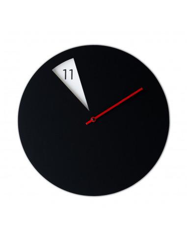Horloge murale design WaveClock Jaune et Noir en céramique