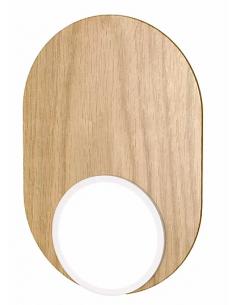 Applique Dot 03 en bois/métal au design graphique par Tunto