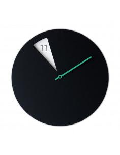Horloge murale design FreakishClock Noir et Jaune en aluminium