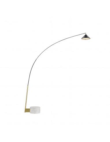 Lampadaire Flex LED en acier et...