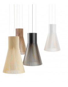Suspension au design scandinave Magnum 4202 en bois naturel
