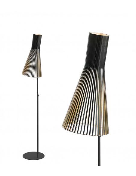 Lampadaire au design scandinave 4210 en bois naturel