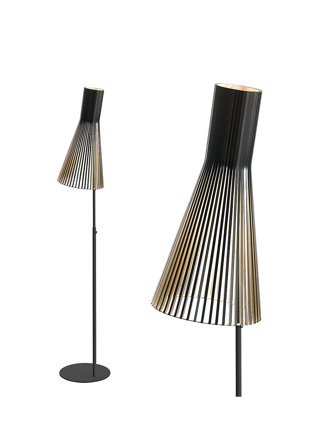 lampadaire au design scandinave 4210 en bois naturel otoko. Black Bedroom Furniture Sets. Home Design Ideas