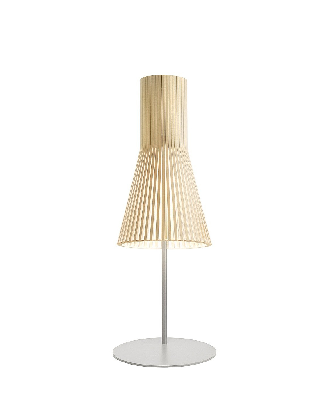 Lampe poser au design scandinave 4220 en bois naturel for Lampe design en bois
