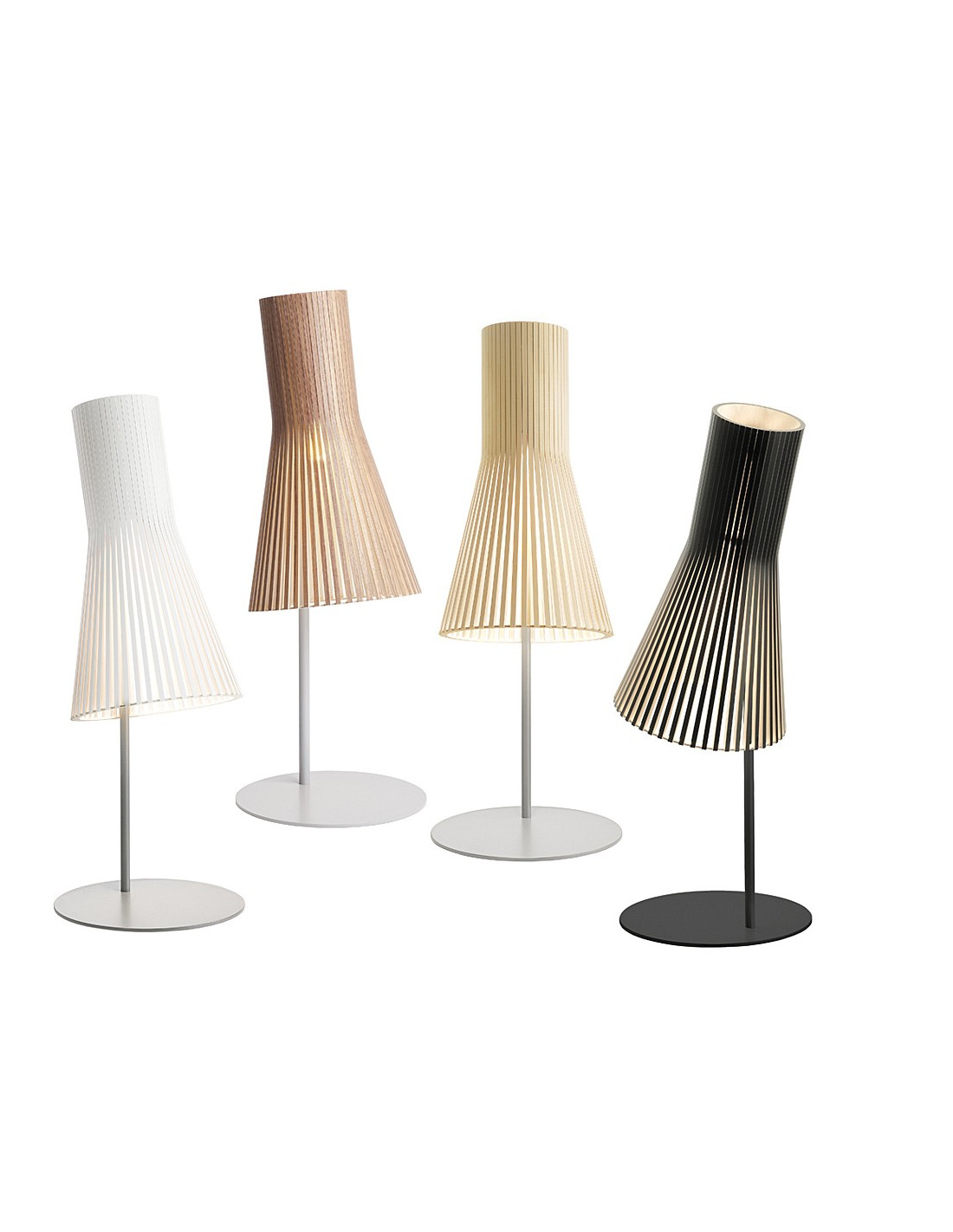 Lampe poser au design scandinave 4220 en bois naturel for Architecture scandinave