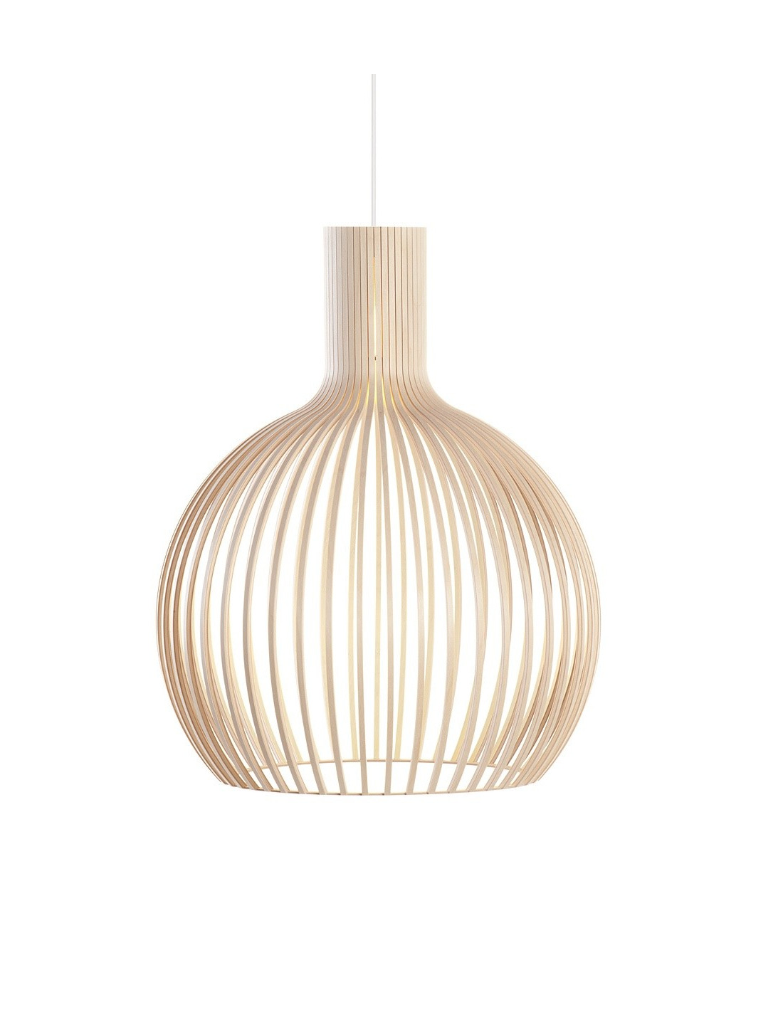 Suspension Design Bois > Suspension au design scandinave Octo 4240 en bois naturel Otoko