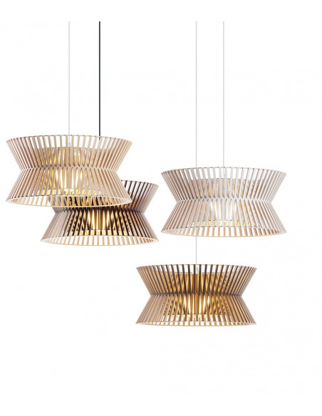 Suspension au design scandinave Kontro 6000 en bois naturel
