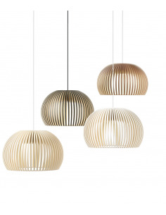 Suspension au design scandinave Atto 5000 en bois naturel
