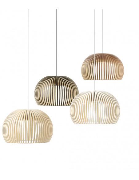 Suspension au design scandinave Atto 5000 en bois naturel