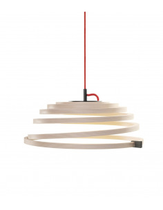 Suspension Led au design scandinave Aspiro 8000 en bois naturel