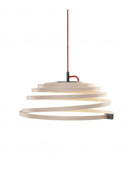 Suspension Led au design scandinave Aspiro 8000 en bois naturel