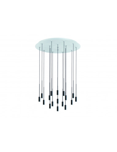 Suspension LED ronde en aluminium 17...