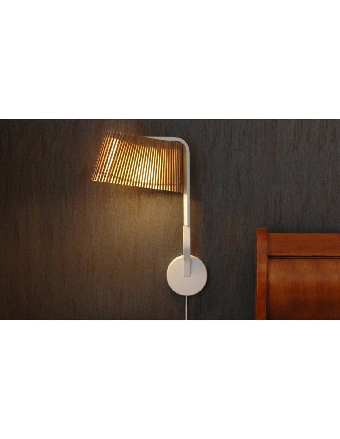 Applique Murale Bois Design : Applique murale Liseuse Led au design scandinave Owalo 7030 en bois