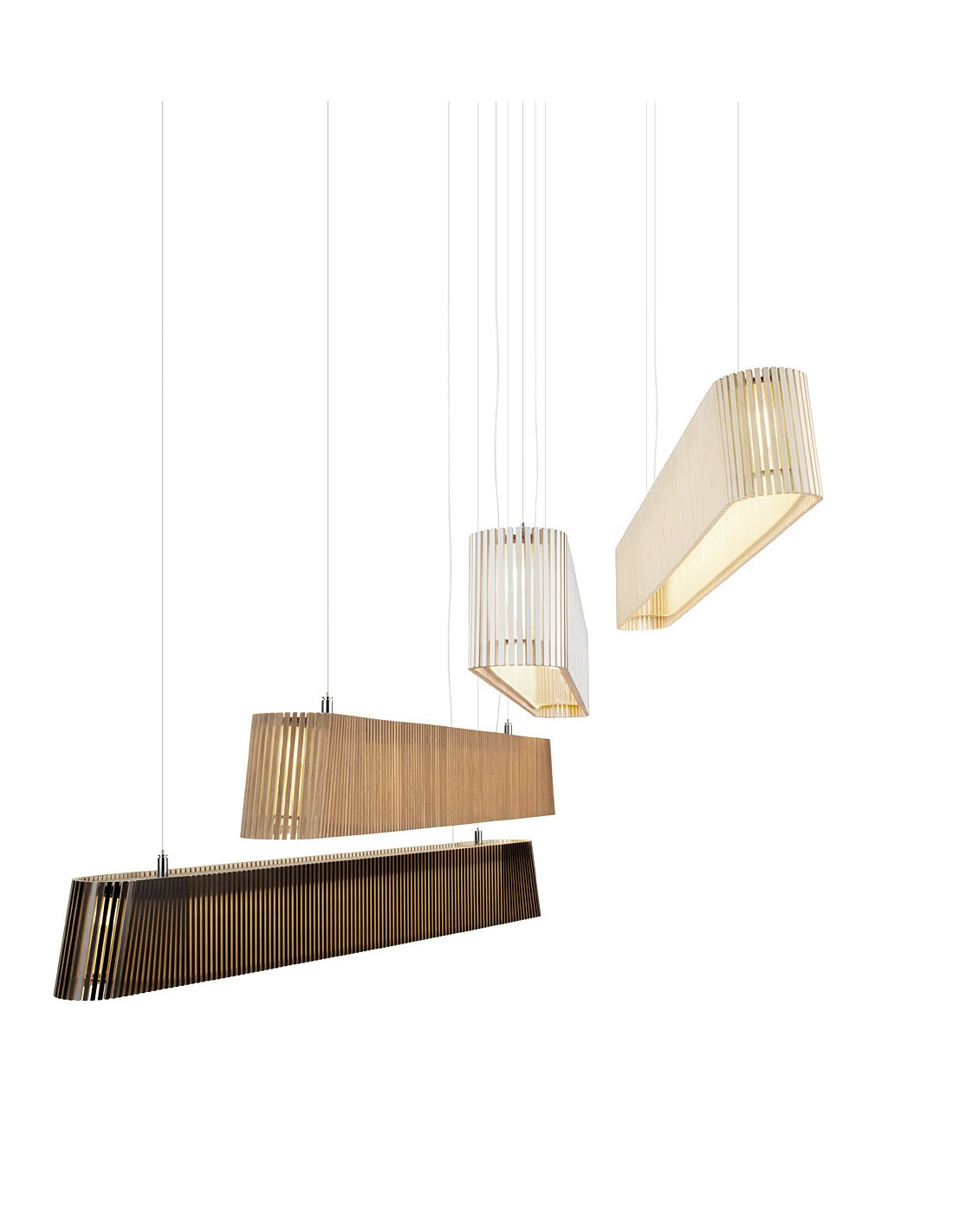 suspension led au design scandinave owalo 7000 en bois naturel otoko. Black Bedroom Furniture Sets. Home Design Ideas