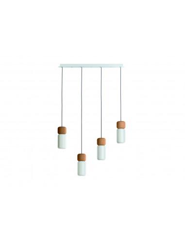 Quadruple suspension linéaire LED en...